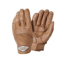 Tucano Urbano Athos Scooter/Motorcycle Gloves - Beige - THE CAFE RACER | FREE UK DELIVERY