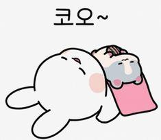 Night Night, Good Night, Line Sticker, Cute Gif, Emoji, Panda, Rabbit, Gifs, Bunny