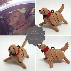 Custom Stitched-Felt Dogs by Eleni Creative - Dog Milk Dog Day Afternoon, Dog Milk, Felt Dogs, Dog Ornaments, Dog Crafts, Cool Pets, Cat Design, Felt Animals, I Love Dogs