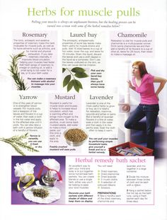 Herbs for muscle pulls