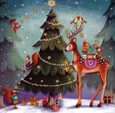forest animals Xmas by Mila Marquis