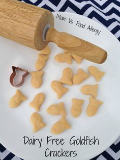 Dairy-Free Goldfish Crackers-Mom Vs. Food Allergy (try using GF flour)