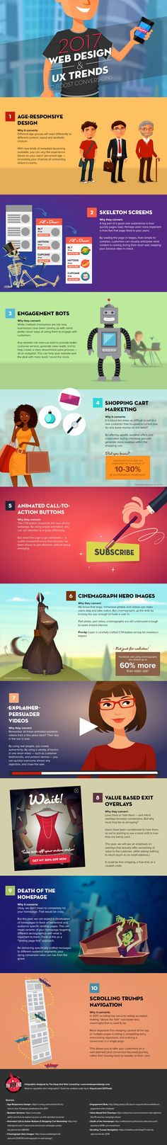 10 web design trends to look for in 2017. #Infographic