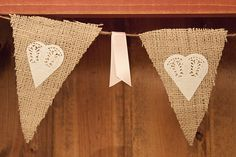 Burlap Pennant Banner  {Piggy Bank Parties Contributor: Cineca of Dreamin' N Details}