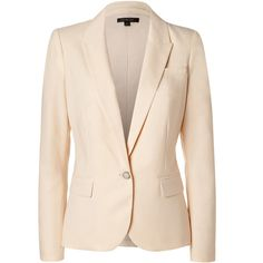 Perfect for chic days at the office, Rachel Zoe's twill blazer is equally flattering and sharp. Notched collar, long sleeves, buttoned cuffs, single button clo…