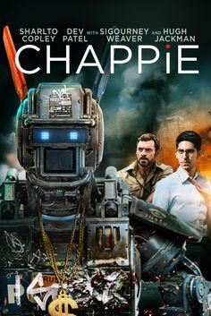 Chappie Movie Poster - Hugh Jackman, Dev Patel  #Chappie, #MoviePoster, #ActionAdventure, #NeillBlomkamp, #DevPatel, #HughJackman