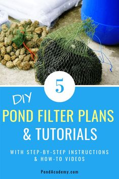 Learn how to make a pond filter with our simple step-by-step instructions and materials list! Choose from 5 DIY pond filter ideas with how-to videos! Pond Filter Diy, Pond Filter System, Pond Filters, Outdoor Ponds, Ponds Backyard, Garden Ponds, Koi Ponds, Garden Fountains, Swimming Ponds