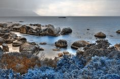 """Blue Boulders Beach - HDR"" via freestock.ca"