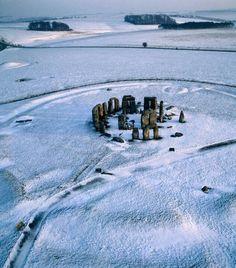Snowy Stonehenge.