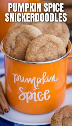 Pumpkin Snickerdoodles These PUMPKIN SPICE SNICKERDOODLES are a family favorite! Delicious soft and chewy with pumpkin spice flavor. This fabulous fall cookie is delicious year round, but is fantastic for fall baking, Halloween or Thanksgiving. Pumpkin Recipes, Fall Recipes, Holiday Recipes, Drink Recipes, Fall Dessert Recipes, Autumn Recipes Baking, Christmas Recipes, Fall Cookie Recipes, Autumn Desserts