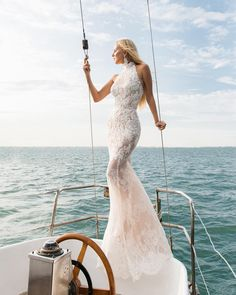 "OKSANA MUKHA (@oksana_mukha_official): ""Be the mermaid in the sea 🌊 of love💕 Caprice gown by @oksana_mukha_official  #OKSANAMUKHA…"""