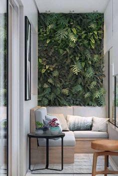 Balcony Wall Vertical Ideas - Unique Balcony & Garden Decoration and Easy DIY Ideas Balcony Wall Vertical Ideas - Balcony Decoration Ideas in Every Unique Detail Small Balcony Design, Vertical Garden Design, Small Balcony Decor, Modern Balcony, Vertical Gardens, Balcony Ideas, Interior Design Living Room, Living Room Designs, Garden Wall Designs