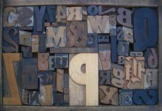 Antique Letterpress Printers Print Blocks