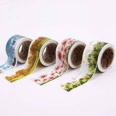 4PCS Chenguang stationery 30mm*10m meetape paper tape four seasons masking tape washi tape-in Office Adhesive Tape from Office & School Supplies on Aliexpress.com | Alibaba Group