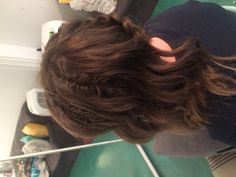 Prom hair- Dutch braid falling into side swept loose waves with two fishtails to create some fun!