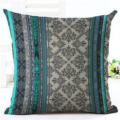 Cushion Cover Bohemian Style Car Home Decorative Floral Printed Throw Pillowcase