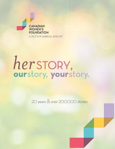 The Canadian Women's Foundation has produced a great annual report the last couple of years, including one that is an interactive PDF