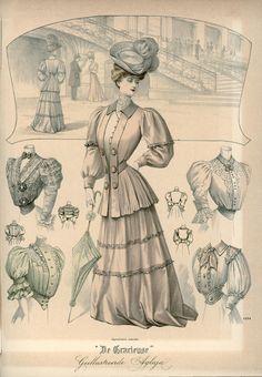 [De Gracieuse] Zomertoiletten (July 1905)