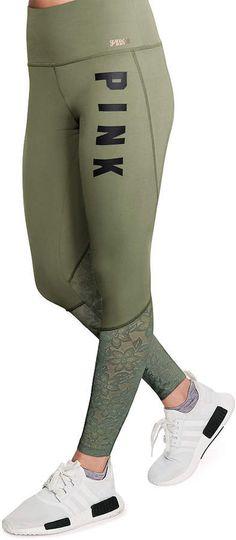 ab5dc39747ab9 PINK Ultimate High Waist Lace Legging - afflink Lace Leggings, Workout  Outfits, Victoria Secret