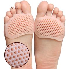 Silicone Padded Forefoot Insoles High Heel Breathable Shoe Insert