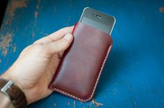 iPhone 5 Hand Stitched Horween Chromexcel by OneStarLeatherGoods, $36.00