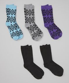 Nicole Miller New York Purple & Heather Gray Crew Socks Set Hippy Fashion, That Look, Take That, Nicole Miller, Crew Socks, Other Accessories, Heather Grey, Sparkles, Outfits