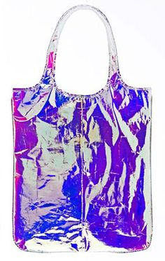 ZILLA SS13 - Pink Glossy Iridescent Shopping Bag