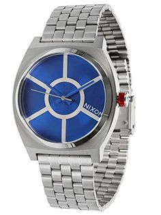 Nixon Men's Time Teller SW R2D2 Blue A045SW2403 Silver Stainless-Steel Quartz Watch >>> Want additional info? Click on the image.