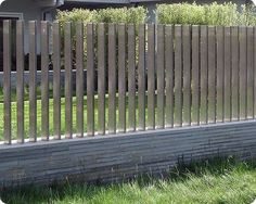 Creative and Modern Ideas: Brick Fence Landscaping fence design outdoor.Horizontal Fence Design country fence and gates. Stone Fence, Brick Fence, Concrete Fence, Front Yard Fence, Farm Fence, Metal Fence, Pool Fence, Backyard Fences, Wooden Fence