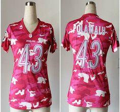 Nike Pittsburgh Steelers Jersey #43 Troy Polamalu Fashion 2013 New Pink Camo Women's Jerseys
