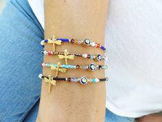 Wholesale jewelry ethnic bracelets evıl eye jewelry dragonfly charm bracelet…