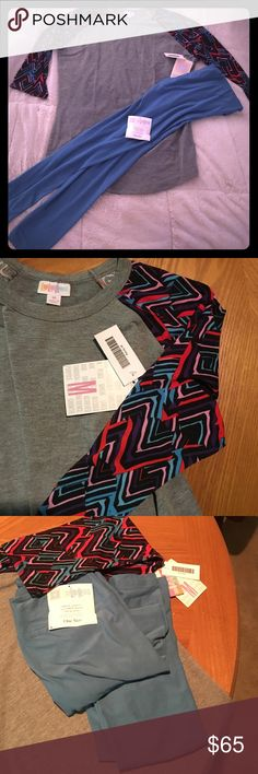 Brand NEW LuLaroe! With tags! Randy & OS Leggings! Both items for 60$! Brand new with tags! This set has a Medium Randy Tee and OS leggings! LuLaRoe Pants Leggings