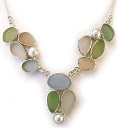 Pastel Sea Glass Necklace