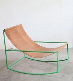 Fien Muller and Hannes Van Severen; Enameled Metal 'First Rocking Chair' for Muller Van Severen, 2010s.