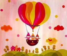 Hsinping Pan hot air balloon illustration