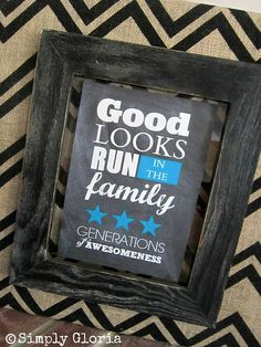 Chevron Burlap and Free Printable - SimplyGloria.com Love this - how great would this be for a holiday gift for everyone in your family? :)