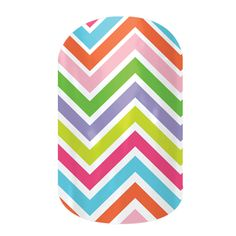 Jamberry Nail Wraps in Candy Chevron These were my first Jamberry purchase and I LOVE them!
