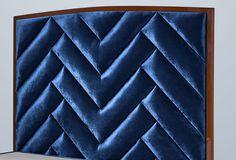 Kopfteil Holz Blau