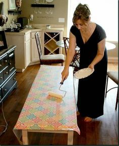 How to Decoupage furniture