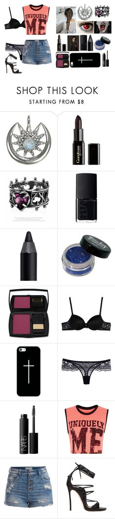 """""""Staying at Austins House"""" by jordanloveofficial ❤ liked on Polyvore featuring Gorgeous Cosmetics, NARS Cosmetics, Urban Decay, Lancôme, Just Cavalli, Casetify, Miss Naory, Lorna Jane, Pieces and Dsquared2"""
