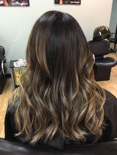 Chocolate brown hair with honey and ash lowlights , brown highlights for black hair