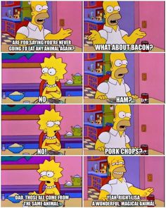 Homer's right though. Pigs are magic.