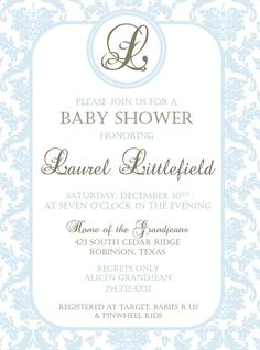 Pink damask vintage baby shower invitation Livengood this wAs my first instinct? Mermaid Baby Showers, Baby Mermaid, Baby Shower Gender Reveal, Baby Shower Themes, Shower Ideas, Kate Baby, Pink Damask, Floral Baby Shower, Baby Sprinkle