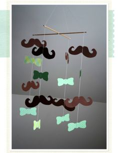 moustache mobile - for the baby room