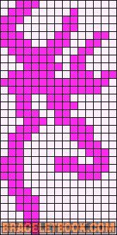 Alpha Friendship Bracelet Pattern #13573 - BraceletBook.com