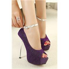 Sequin Studded Peep-Toe Ankle Strap Sandals⊰⊹✿ ..  http://www.ericdress.com/list/cheap-stiletto-sandals-101991/17/