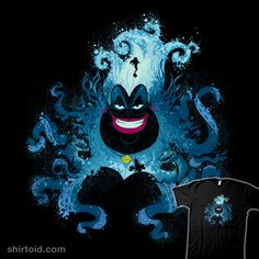 A Little Mermaid Ursula t-shirt by Harantula. Show everyone that you are a fan of the Little Mermaid with this Ursula t-shirt. Disney Magic, Disney Pixar, Art Disney, Film Disney, Disney Dream, Disney Villains, Disney And Dreamworks, Disney Movies, Princesas Disney Zombie