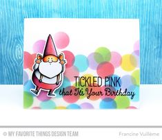 You Gnome Me, Tickled Pink, Circle STAX Set 1 Die-namics, You Gnome Me Die-namics - Francine Vuillème  #mftstamps