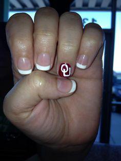 OU Sooner Nails via Natural Nails Shawnee on FB