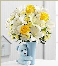 It's a boy!  How wonderful!  Celebrate with this beautiful arrangement from FTD.   And get your rebate first from RebateGiant.com.